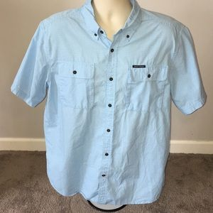 XL Men's Field and Stream Blue Button Camp Shirt